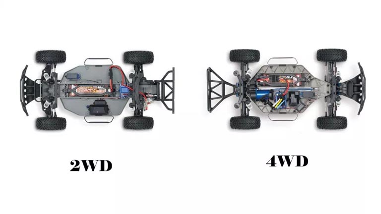 2WD or 4WD rc trucks