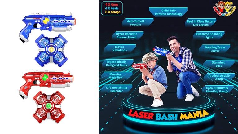 Jiggle N Smiggle Laser Tag Gun Set