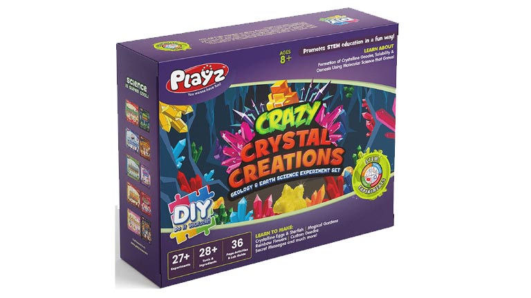Playz Growing Crystal Creations Science Toys